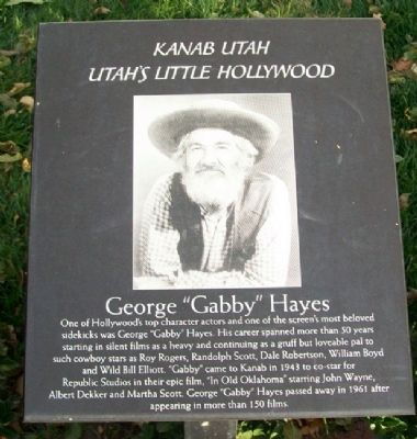 "George ""Gabby"" Hayes Marker image. Click for full size."