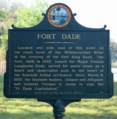 Fort Dade Marker Photo, Click for full size