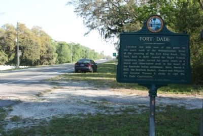 Fort Dade Marker, looking north along US 301 at Pasco County line Photo, Click for full size