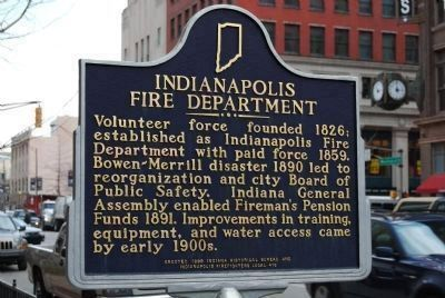 Indianapolis Fire Department Marker image. Click for full size.