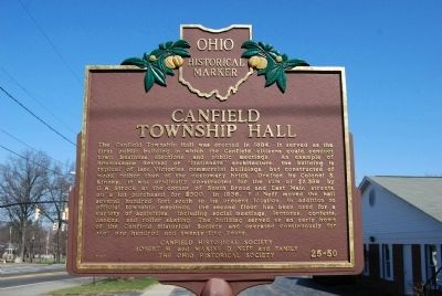 Canfield Township Hall Marker image. Click for full size.
