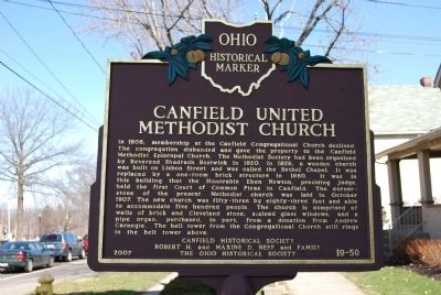Canfield United Methodist Church Marker image. Click for full size.