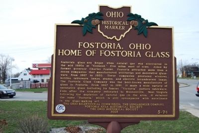 Fostoria, Ohio Marker image. Click for full size.