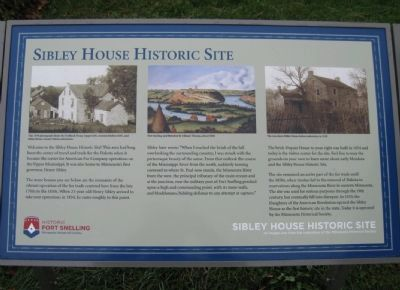 Sibley House Historic Site Marker image. Click for full size.