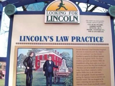 Lincoln's Law Practice Marker image. Click for full size.