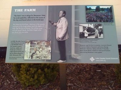 "Marker near entrance to ""The Farm"" image. Click for full size."
