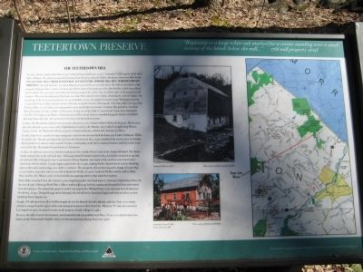 The Teetertown Mill Marker image. Click for full size.