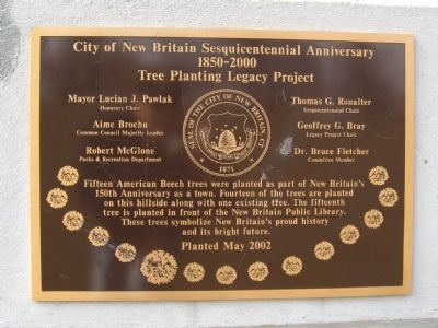 City of New Britain Sesquicentennial Anniversary Marker image. Click for full size.