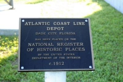 Atlantic Coast Line Depot Marker image. Click for full size.