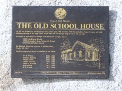 The Old School House Marker image. Click for full size.