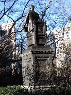 Rear of Chester Alan Arthur Monument image. Click for full size.