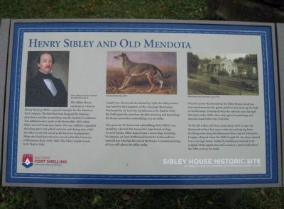 Henry Sibley and Old Mendota Marker image. Click for full size.