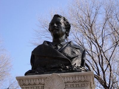 Bust of Alexander Lyman Holley image. Click for full size.