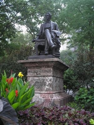 William H. Seward Statue in Summer image. Click for full size.