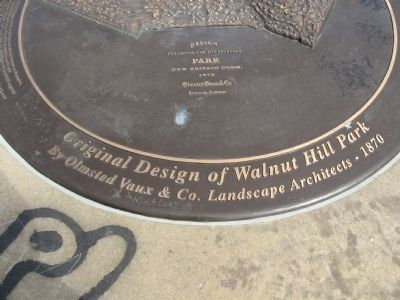 Original Design of Walnut Hill Park Marker image. Click for full size.
