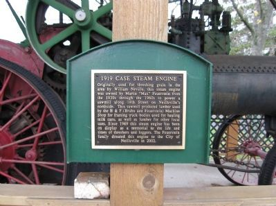 1919 Case Steam Engine Marker image. Click for full size.