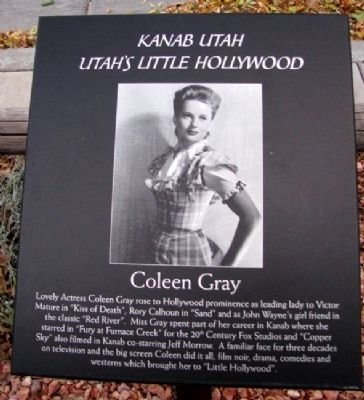 Coleen Gray Marker image. Click for full size.