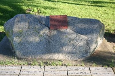 Indian Mill Stone Marker Photo, Click for full size