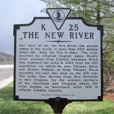 The New River Marker image. Click for full size.
