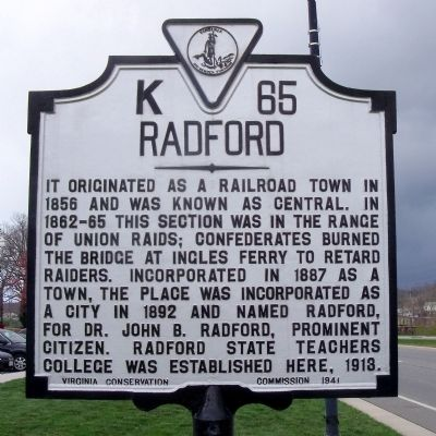 Radford Marker image. Click for full size.