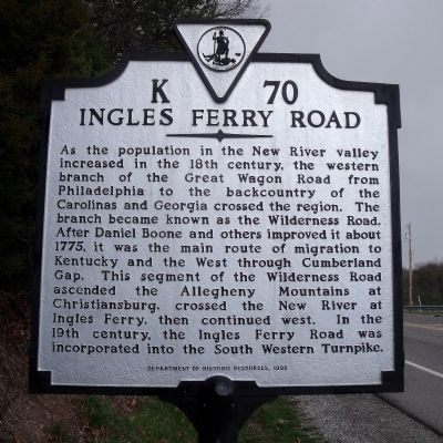 Ingles Ferry Road Marker image. Click for full size.