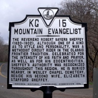 Mountain Evangelist Marker Photo, Click for full size