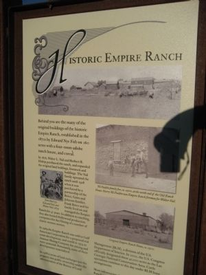 Historic Empire Ranch Marker image. Click for full size.
