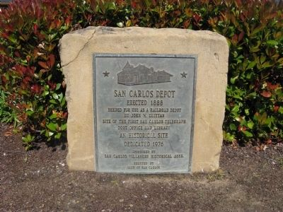 San Carlos Depot Marker image. Click for full size.