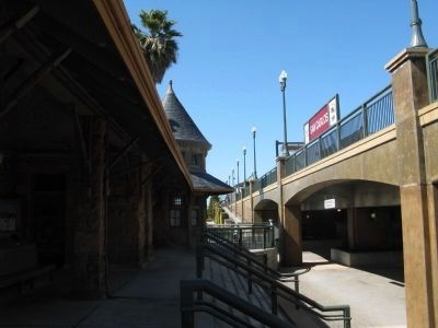 San Carlos Depot and Current Elevated CalTrain Tracks image. Click for full size.