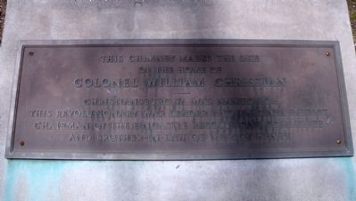 Colonel William Christian Marker image. Click for full size.