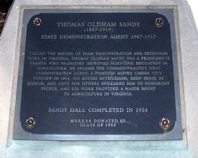 Thomas Oldham Sandy Marker image. Click for full size.