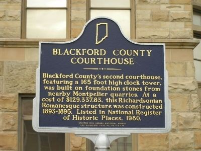 Blackford County Courthouse Marker image. Click for full size.