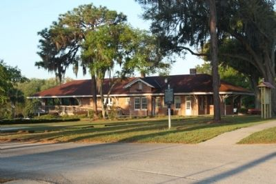 Zephyrhills Railroad Depot with Marker image. Click for full size.