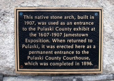 Pulaski County Courthouse Marker image. Click for full size.