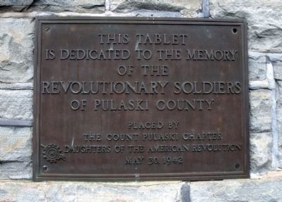 Pulaski County D.A.R. Plaque image. Click for full size.