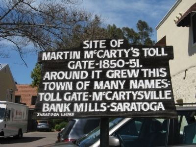 Site of Martin McCarty's Toll Gate Marker image. Click for full size.