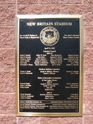 New Britain Stadium Marker image. Click for full size.