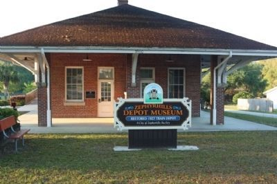 Zephyrhills Depot and Marker image. Click for full size.