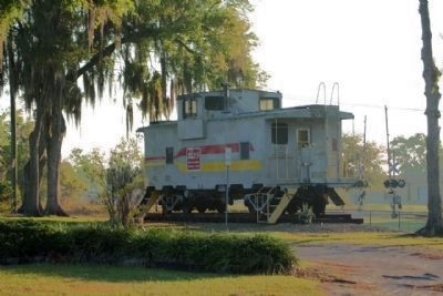 Zephyrhills Depot and Caboose display image. Click for full size.