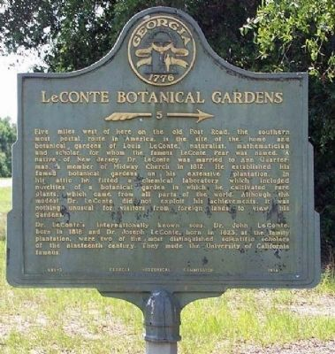 LeConte Botanical Gardens Marker image. Click for full size.