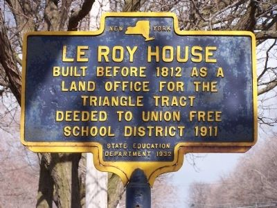 Le Roy House Marker Photo, Click for full size