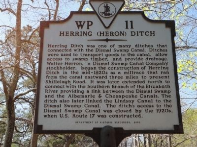 Herring (Heron) Ditch Marker image. Click for full size.