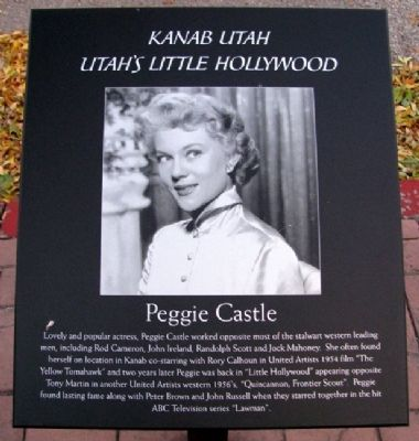 Peggie Castle Marker image. Click for full size.