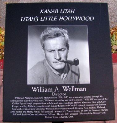William A. Wellman Marker image. Click for full size.