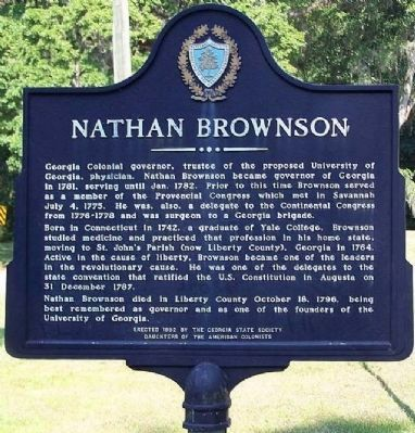 Nathan Brownson Marker image. Click for full size.