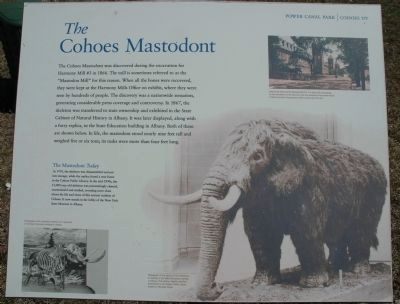 The Cohoes Mastodont Marker image. Click for full size.