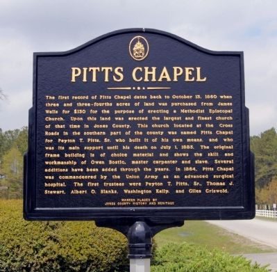 Pitts Chapel Marker image. Click for full size.