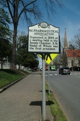 N.C. Pharmaceutical Association Marker image. Click for full size.