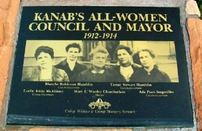 Kanab's All-Women Council and Mayor Marker image. Click for full size.