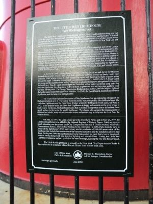 The Little Red Lighthouse Marker Photo, Click for full size